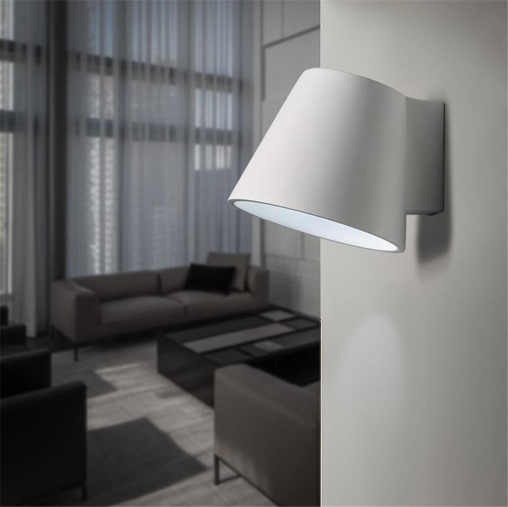 Apliques de Pared Pared Moderna Luces Pared lámpara Pared Aplique Dormitorio Living Comedor Escalera Pasillo iluminación Yeso Blanco Apliques de Pared LED: Amazon.es: Hogar
