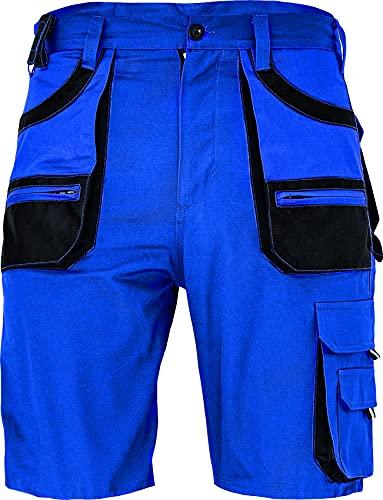 DINOZAVR des-Emerton Bermuda da Lavoro Uomo - Pantaloni Corti Cargo Pantaloncini Estivi con Tasche Multifunzione - Blu Reale 48