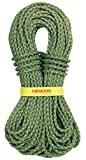 SGT KNOTS Tendon Dynamic Hattrick Climbing Rope - UIAA/CE Certified, Single Braided Rope for Rappelling & Hiking (9.7mm x 70m, GreenBlue)