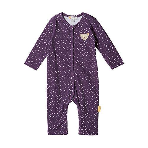 Steiff Baby - Mädchen Strampler , Violett (HORTENSIA 7021) , 56 (Herstellergröße:56)