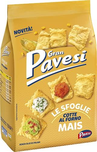 Gran Pavesi Cracker Le Sfoglie al Mais, Cotte al Forno, Senza Olio di Palma, 150 g