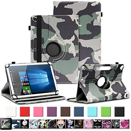 NAUC Tablet Tasche für Archos Copper 101C Hülle Schutzhülle aus hochwertigem Kunstleder Standfunktion 360° Drehbar Universal Case, Farben:Motiv 1