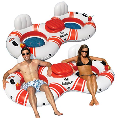 Swimline Superchill Tube Duo Swimming Pool Float, 2-Pack