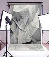 HiYash ビニールの薄い背景5 x 7FT写真の背景純粋なグレー色のテーマレトロな幾何学模様の壁の床屋内撮影個人の肖像画の背景1.5(W)x 2.2(H)mフォトスタジオの小道具