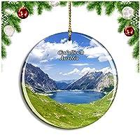 Gafalljoch Brandnertal Vorarlbergオーストリアクリスマスデコレーションオーナメントクリスマスツリーペンダントデコレーションシティトラベルお土産コレクション磁器2.85インチ