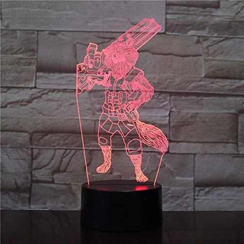 Birthday Commemorative Handmade Gift Movie Superhero 3D Phantom USB 3D LED Night Light Multi-Table Lamp Table Lamp Collection Gift