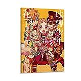 QWKM Póster de anime de Hanako-kun con 4 lienzos, impresión artística de pared, diseño moderno, 40 x 60 cm
