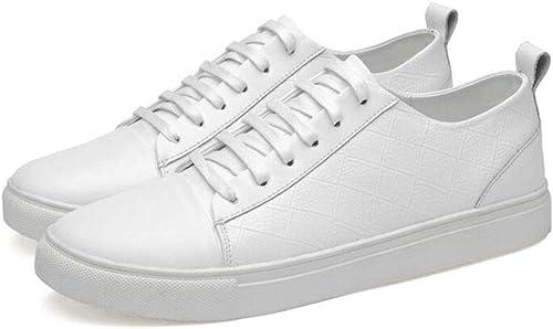 Herrenschuhe, Studentische Flat Loafers Deck Schuhe, Herren Spring Low Top Walking Gym Schuhe Radschuhe,Weiß,46