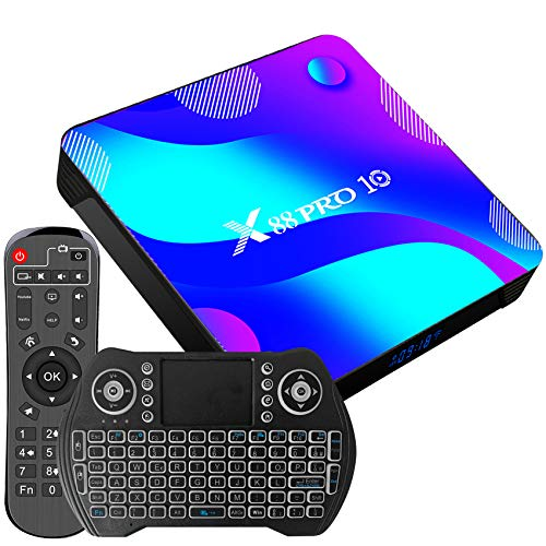 Magcubic Tv Box Android 11.0 TV Box 4GB RAM 128GB ROM RK3318 Dual WIFI TV Box Android Dolby H.265 3D 4K UHD con Tastiera