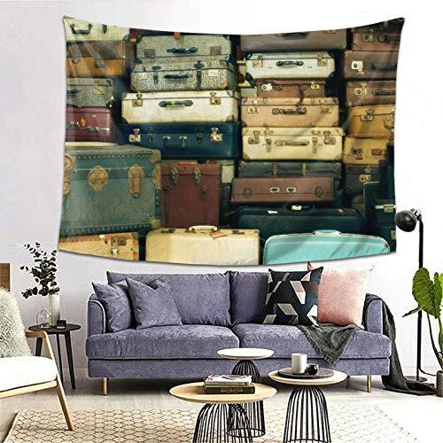 MATEKULI Tapiz,Muchas maletas antiguas de época,Decoración de la Pared Manta Arte de la Pared Tapiz Dormitorio Sala de Estar Toalla de Playa