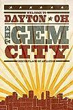 Dayton, Ohio - Skyline and Sunburst Screenprint Style (12x18 Art Print, Wall Decor Travel Poster)