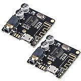 2 Piezas Placa receptora de Audio Bluetooth para Amplificador de Audio 3,7-5 V BT5.0 Amplificador de Altavoz estéreo para Coche DIY