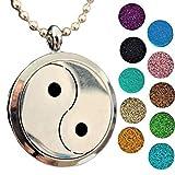 Ciondolo Aromaterapia, Collana Diffusore di Oli Essenziali (Yin Yang)