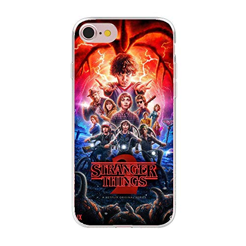 RENGMIAN Soft TPU TV Stranger Things Pattern iPhone Case Transparent Phone Silicon Cover ST-296 for Cover iPhone 6/for Cover iPhone 6S