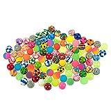 100 Pack Bouncy Balls for Kids, Bulk Birthday Party Favors Variety (1.25 in)
