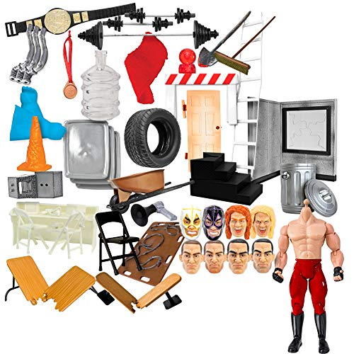 50 Piece Accessory Starter Kit for WWE Wrestling Action Figures