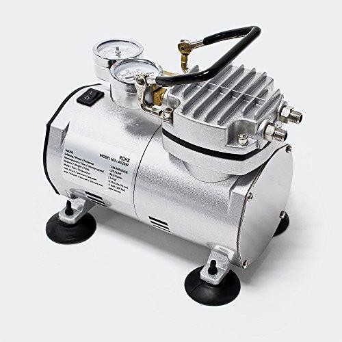 Compresor AS20W para aerografía con bomba de vacío y manómetro Accesorios aerografía