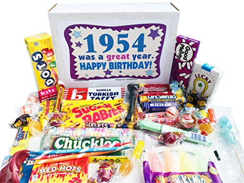 Woodstock Candy ~ 1954 66th Birthday Gift Box of Retro Candy Assortment from Childhood for 66 Year Old Man or Woman Born 1954 Jr