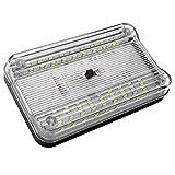 Riloer - Iluminación interior de coche, 36 ledes, iluminación interior de coche, iluminación de techo blanca, plafón...