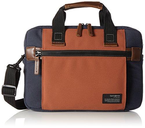 "Samsonite Sideways Laptop Sleeve 13.3"" Bolso Bandolera, 6.2 Litros, Color Azul/Naranja"