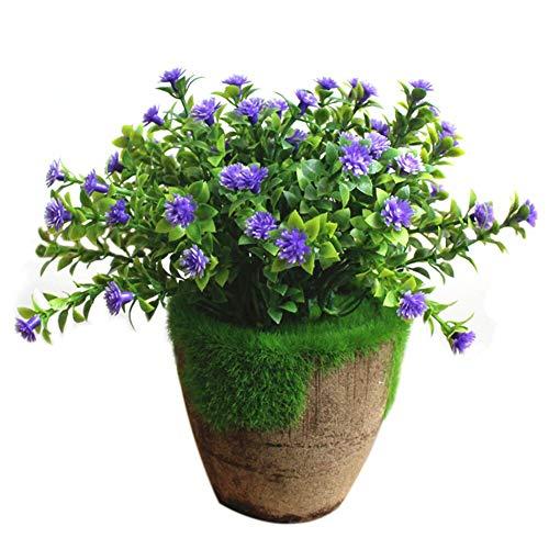 Hylzw Kunstbloem, kunstplant, kantoor, handwerk, mooie bruiloft, kunstbloemen, feestjes, ornamenten, bonsai, kunstplant, in pot, licht, cadeau