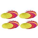com-four® 24x Decoración para la conservación de tarros - Decoración para la conservación de tarros con diferentes motivos (24 piezas - Tapete decorativo)