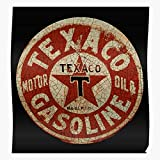 Bike Auto Car Shell Gas Texaco Club Manager Rig And Sign Vintage Mobil Field Oil Consultant Chevron I Fsgteam- Impressive and Trendy Poster Print decor Wall or Desk Mount Options
