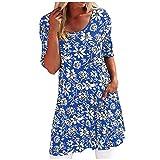 Elegante Kleider Damen KleiderbüGel Schwarz Elegant Sommer Lang Leichte Sommerkleider Kleiderstange Ausziehbar Metall Gold Bluse(Blau,L)