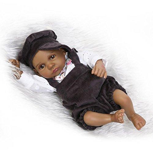 Nicery Carino rinato Bambino bagno Reborn Bambola Indiano stile nero pelle duro bambini amico simulazione silicone vinile 10 pollici 24-26 cm impermeabile giocattolo ragazzo