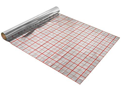 Rasterfolie für Fußbodenheizung 50 m2 Alufolie der Dicke 75 µm
