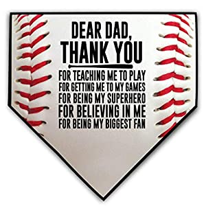 """WRITE YOUR MESSAGE! Let your mom and dad know how much you appreciate this with this unique baseball plaque! Thank them for all their support throughout your baseball career by customizing this 10"""" x 10"""" plaque with a permanent marker. The smooth sur..."""