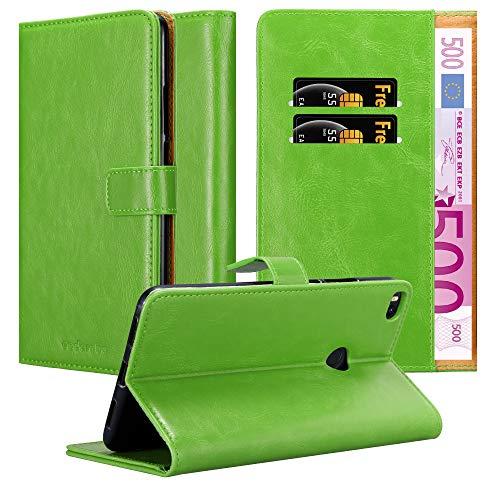 Cadorabo Funda Libro para Xiaomi Mi MAX 2 en Verde Hierba - Cubierta Proteccíon con Cierre Magnético, Tarjetero y Función de Suporte - Etui Case Cover Carcasa