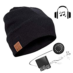 seenlast Bluetooth 5.0 Beanie Hat Headphones with speaker, gifts Christmas Women Men Music Hat Knitted Hat Headset Microphone Hands-free function for outdoor sports