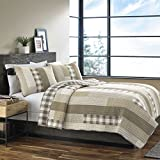 Eddie Bauer Home | Fairview Collection | 100% Cotton Reversible & Light-Weight Quilt Bedspread with Matching Shams, 3-Piece Bedding Set, Pre-Washed for Extra ComfortFull/QueenSand