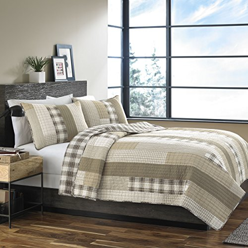 Eddie Bauer Fairview Cotton Quilt Set, Full/Queen, Sand, Model:208774