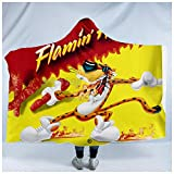 PLstar Cosmos Hot Cheetos Food Harajuk Funny Hooded Blanket 3D Full Print Wearable Blanket Adults Men Women Style(200 X 150CM)