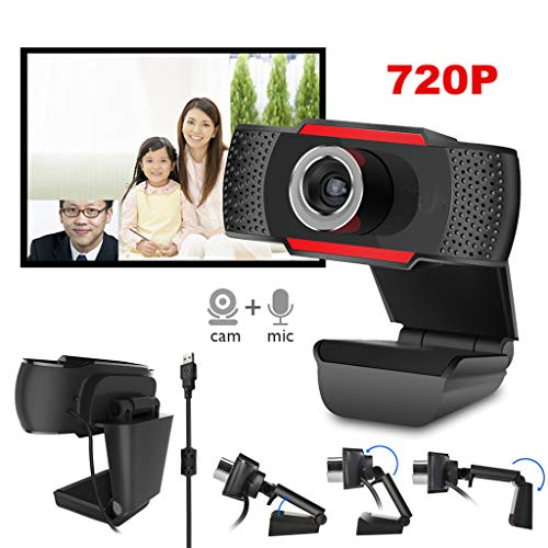 Computer Webcam Hd Pc Desktop Camera, Instelbare Hd 720P Volledige Video Webcam Met Microfoon, Voor Videoconferenties Streaming Video Chatten Online Lessen En Meer