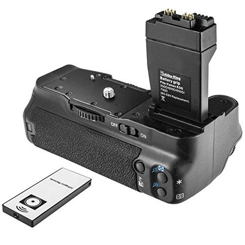 Akku-King Batteriegriff kompatibel mit Canon EOS 650D, 600D, 550D, 700D,Rebel T2i, T3i, T4i, Kiss X4, X5, X6i - ersetzt BG-E8