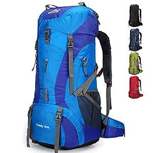 511vMOAevPL. SS300  - Doshwin Mochila Grande Camping Trekking Senderismo Viaje para Mujer Hombre / 70L