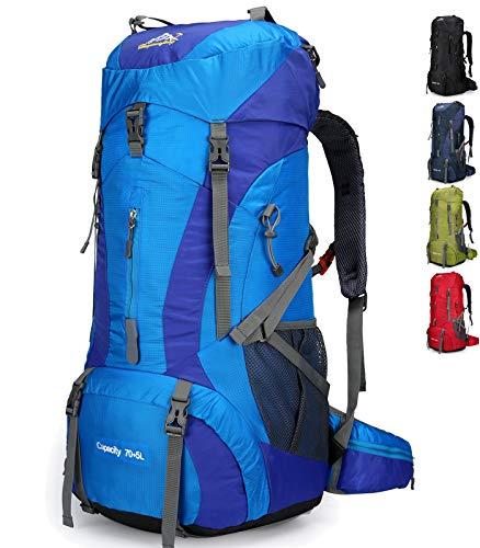 511vMOAevPL - Doshwin Mochila Grande Camping Trekking Senderismo Viaje para Mujer Hombre / 70L