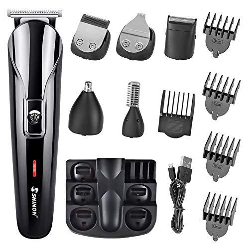 Barbero Electrico Cortapelos, Recortador de Barba y Precisión 6-In-1, Afeitadora Corporal para...