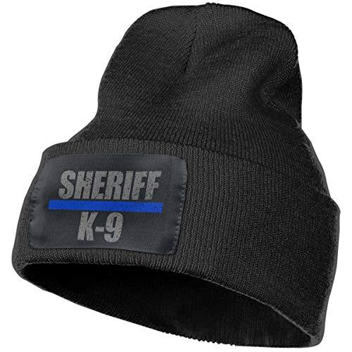 Sheriff K-9 Warm Winter Hat Knit Beanie Skull Cap Cuff Beanie Hat Winter Hats for Men & Women Black