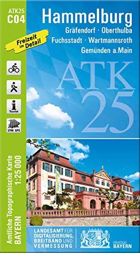 ATK C04 Hammelburg 1:25 000: Gräfendorf, Oberthulba, Fuchsstadt, Wartmannsroth, Gemünden a.Main, Fränkisches Weinland (ATK25 Amtliche Topographische Karte 1:25000 Bayern)