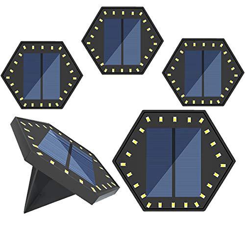 Luces solares con 24 luces LED – Luces solares para exterior para patio trasero, patio trasero, 8 unidades, color blanco frío
