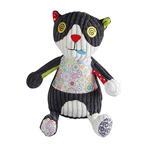 Morbuy Poupées de Couchage Bébé Appease Avec des Jouets Nouveau-nés Plush Animaux Bébé Cute Soft Peluche Activité Crib Poussette Jouets Toy Doll (28CM Chats)