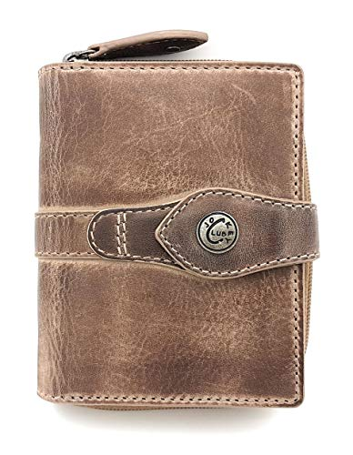 Price comparison product image Jockey Club La-Correa Women's Purse Full Cowhide Leather Shabby Chic Used Look Vintage Style with RFID Protection