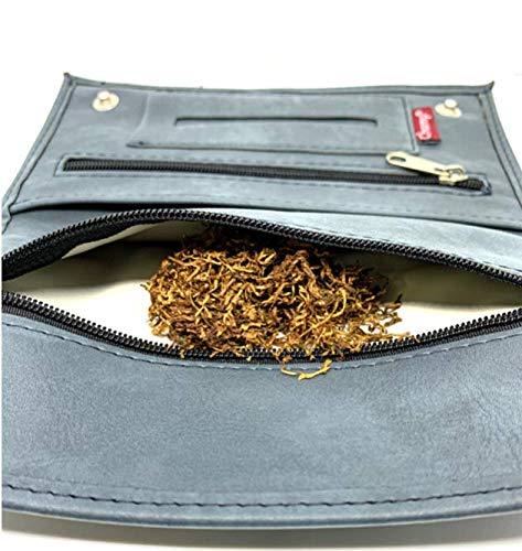 porta tabacco in pelle (blu marino)