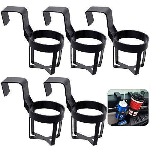 Xinlie Portavasos de Agua para Camión Universal de Automóvil Posavasos para Coche Asiento Negro De Copa Universal Ajustable Copa Plegable para Teléfono Vaso de Agua Taza de Café(5 Piezas)