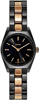 Rado Women's Black Dial Stainless Steel Band Watch - R31508152