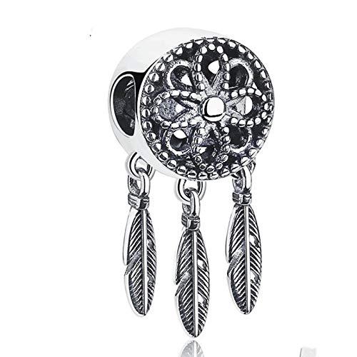 LILIANG Charm Jewelry Auténtico 100% 925 Colgante De Plata De Ley Atrapasueños Charm Fit Pulseras Collares Regalo De Joyería Original